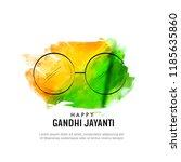 gandhi jayanti or 2nd october... | Shutterstock .eps vector #1185635860