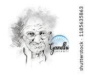gandhi jayanti or 2nd october... | Shutterstock .eps vector #1185635863