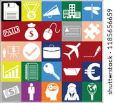 set of 25 business high quality ... | Shutterstock .eps vector #1185656659