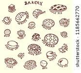vector illustration. bakery set ... | Shutterstock .eps vector #1185662770