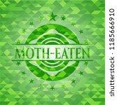 moth eaten green mosaic emblem   Shutterstock .eps vector #1185666910
