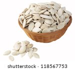salted pumpkin seeds | Shutterstock . vector #118567753