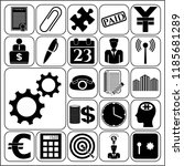 set of 22 business high quality ... | Shutterstock .eps vector #1185681289