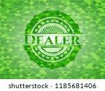 dealer green emblem with... | Shutterstock .eps vector #1185681406