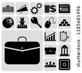 set of 17 business icons or... | Shutterstock .eps vector #1185681496