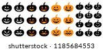 happy halloween party pumpkins... | Shutterstock .eps vector #1185684553