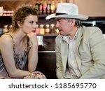 beautiful and femme fatale... | Shutterstock . vector #1185695770