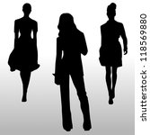 silhouette fashion girls | Shutterstock .eps vector #118569880