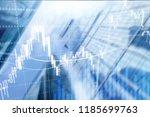 forex trading  financial market ... | Shutterstock . vector #1185699763