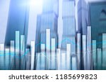 financial graphs and charts on... | Shutterstock . vector #1185699823