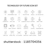 line icons set. technology of... | Shutterstock .eps vector #1185704356