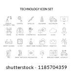 line icons set. technology pack.... | Shutterstock .eps vector #1185704359
