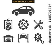 car service and repair icons... | Shutterstock .eps vector #1185708769