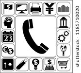 set of 17 business icons ... | Shutterstock .eps vector #1185710020