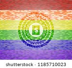 book with money symbol inside... | Shutterstock .eps vector #1185710023