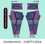 leggings pants fashion... | Shutterstock .eps vector #1185711016