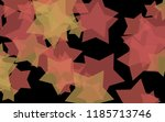 multicolored translucent stars... | Shutterstock . vector #1185713746