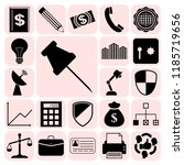 set of 22 business high quality ... | Shutterstock .eps vector #1185719656