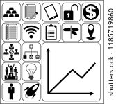 set of 17 business icons ... | Shutterstock .eps vector #1185719860