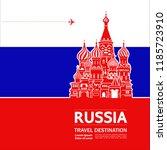 russia travel destination...   Shutterstock .eps vector #1185723910