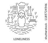linear banners for mental... | Shutterstock .eps vector #1185724546