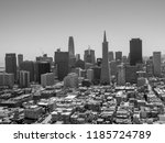 the view of entire sf city and... | Shutterstock . vector #1185724789