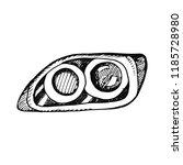 automotive headlight spare part ... | Shutterstock .eps vector #1185728980