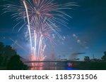 vilnius  lithuania   july 06 ... | Shutterstock . vector #1185731506