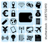 set of 22 business high quality ... | Shutterstock .eps vector #1185732493