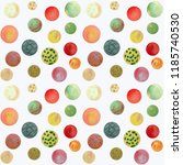 circles with a watercolor... | Shutterstock . vector #1185740530