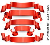 red glossy vector ribbons on a... | Shutterstock .eps vector #118574308