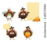 thanksgiving turkey set | Shutterstock .eps vector #118574584