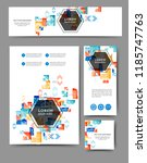 set of advertising flyers and... | Shutterstock .eps vector #1185747763