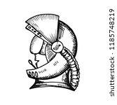 astronaut in a spacesuit helmet ... | Shutterstock .eps vector #1185748219