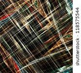 crossing lines on black... | Shutterstock . vector #118575544