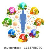 vitamins and minerals pills in...   Shutterstock .eps vector #1185758770
