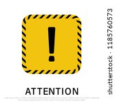 attention signs isolated on... | Shutterstock .eps vector #1185760573