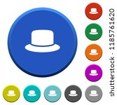 hat round color beveled buttons ...   Shutterstock .eps vector #1185761620