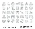 vector graphic set. 40x40... | Shutterstock .eps vector #1185770020