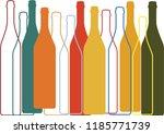 bottle of alcohol background... | Shutterstock .eps vector #1185771739