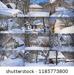 winter landscapes with rural... | Shutterstock . vector #1185773800