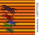 halloween spider vector... | Shutterstock .eps vector #1185777220