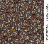 bohemian retro floral all over...   Shutterstock .eps vector #1185786553