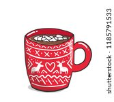 vector illustration  red mug... | Shutterstock .eps vector #1185791533