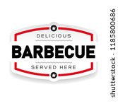delicious barbecue vintage sign | Shutterstock .eps vector #1185800686
