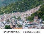 aerial view of favela rocinha...   Shutterstock . vector #1185802183