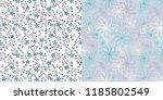 seamless mini floral vine... | Shutterstock .eps vector #1185802549