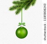 vector green christmas... | Shutterstock .eps vector #1185808243