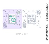data sheet modern flat color... | Shutterstock .eps vector #1185808330