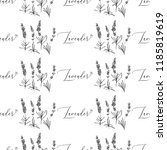 seamless pattern with lavender... | Shutterstock .eps vector #1185819619